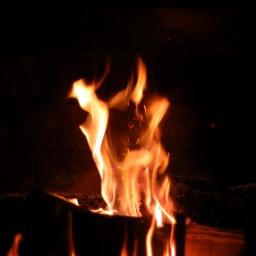 Fireside family time