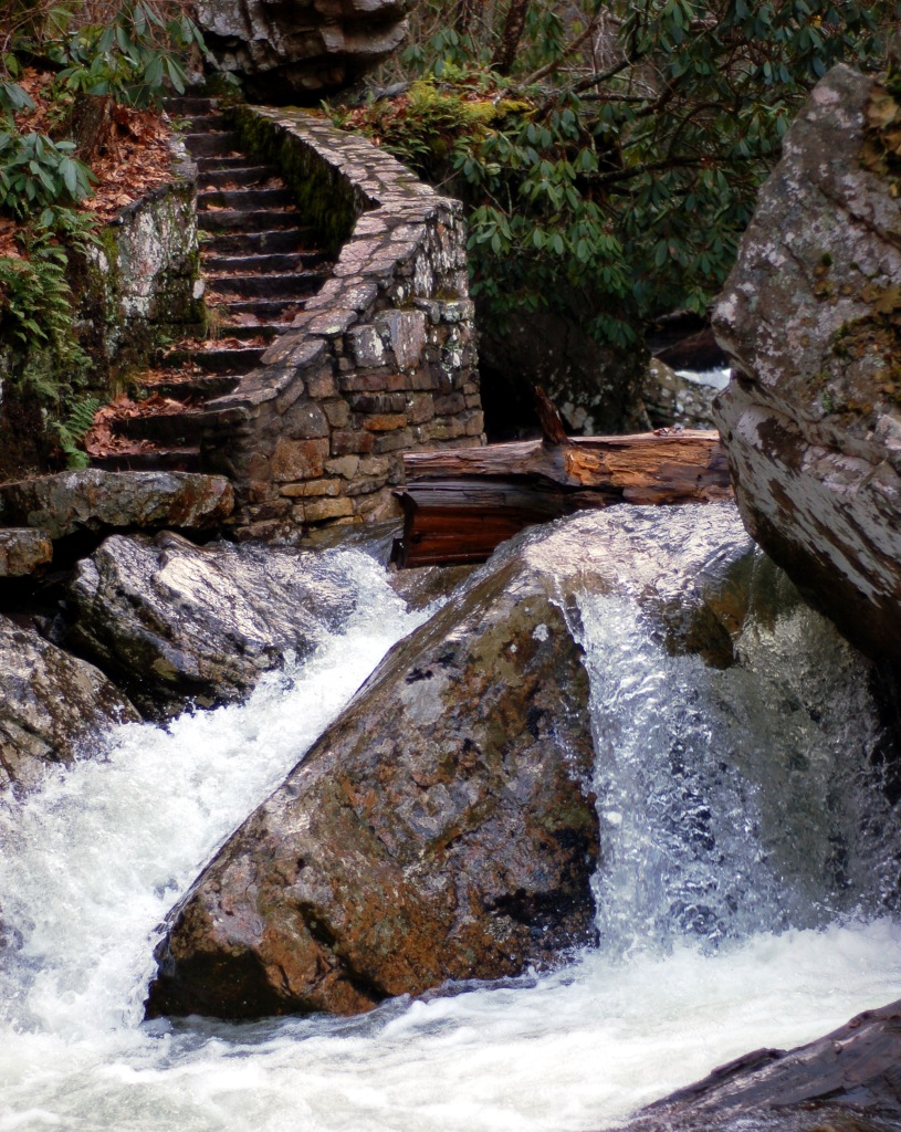 stairs and stream