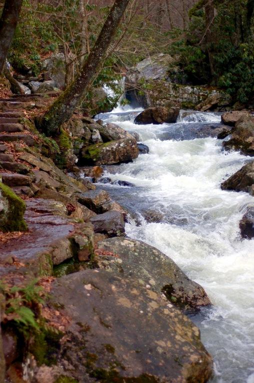 Streamside stairs