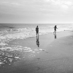 Weightless on the beach