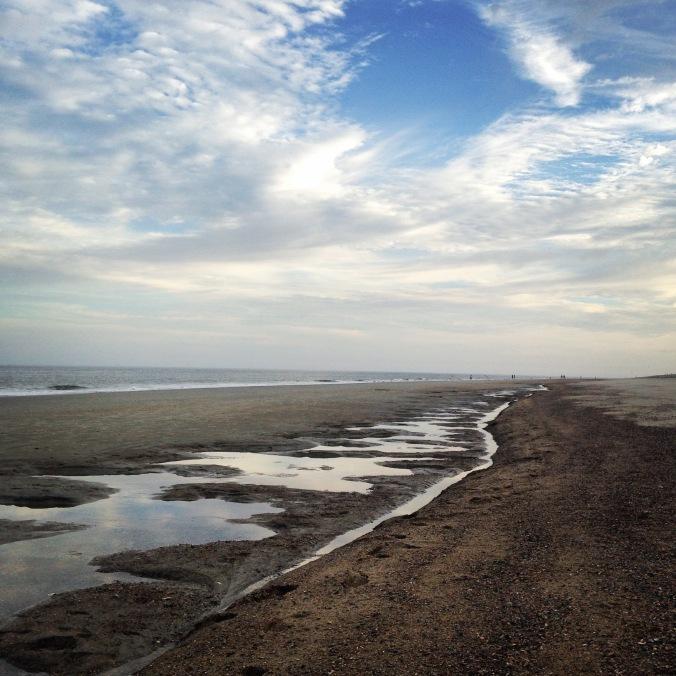 Low tide, Tybee Island beach, December
