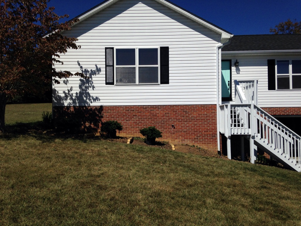 House before flower bed