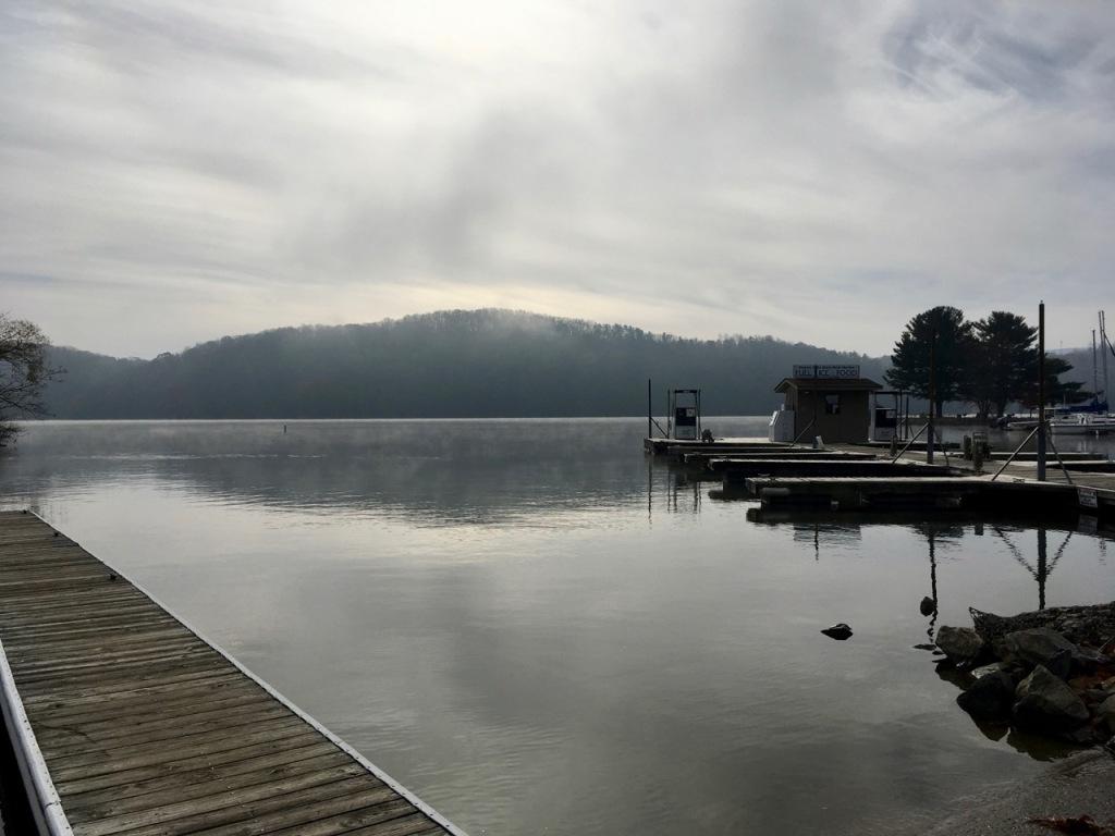 foggy November sail