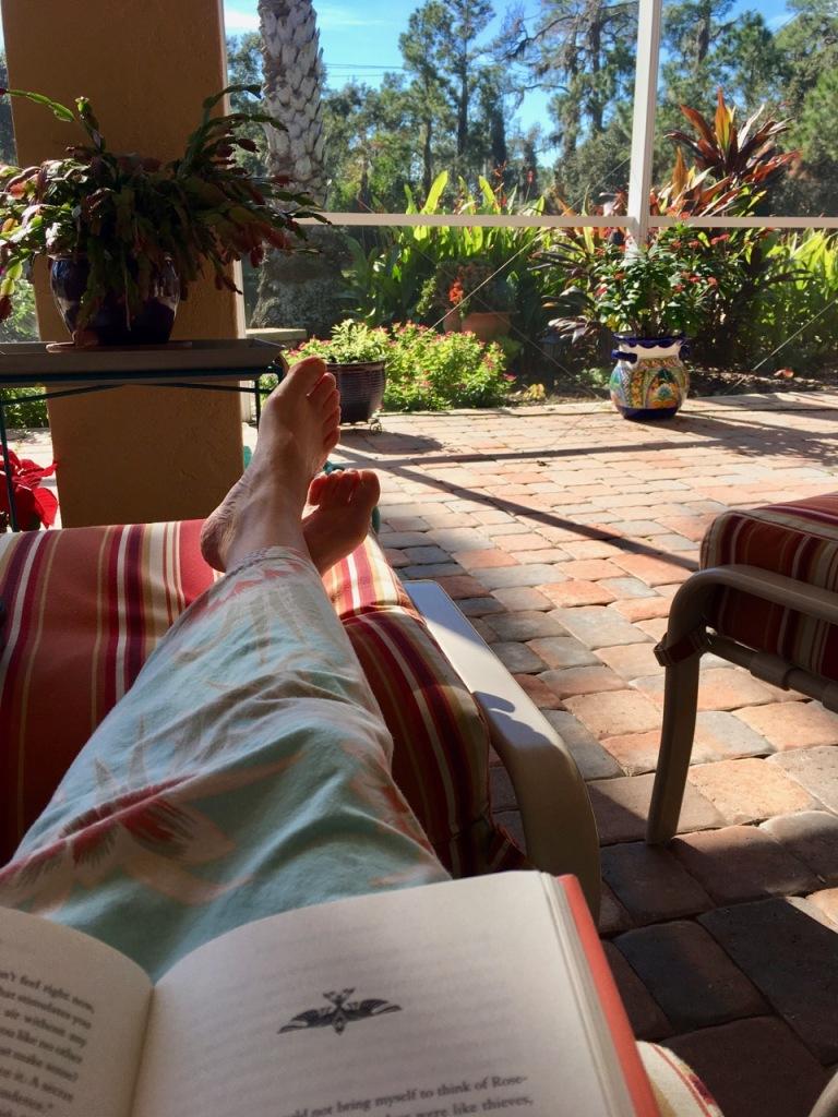 reading relaxing lanai sarasota