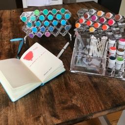 Organizing ink
